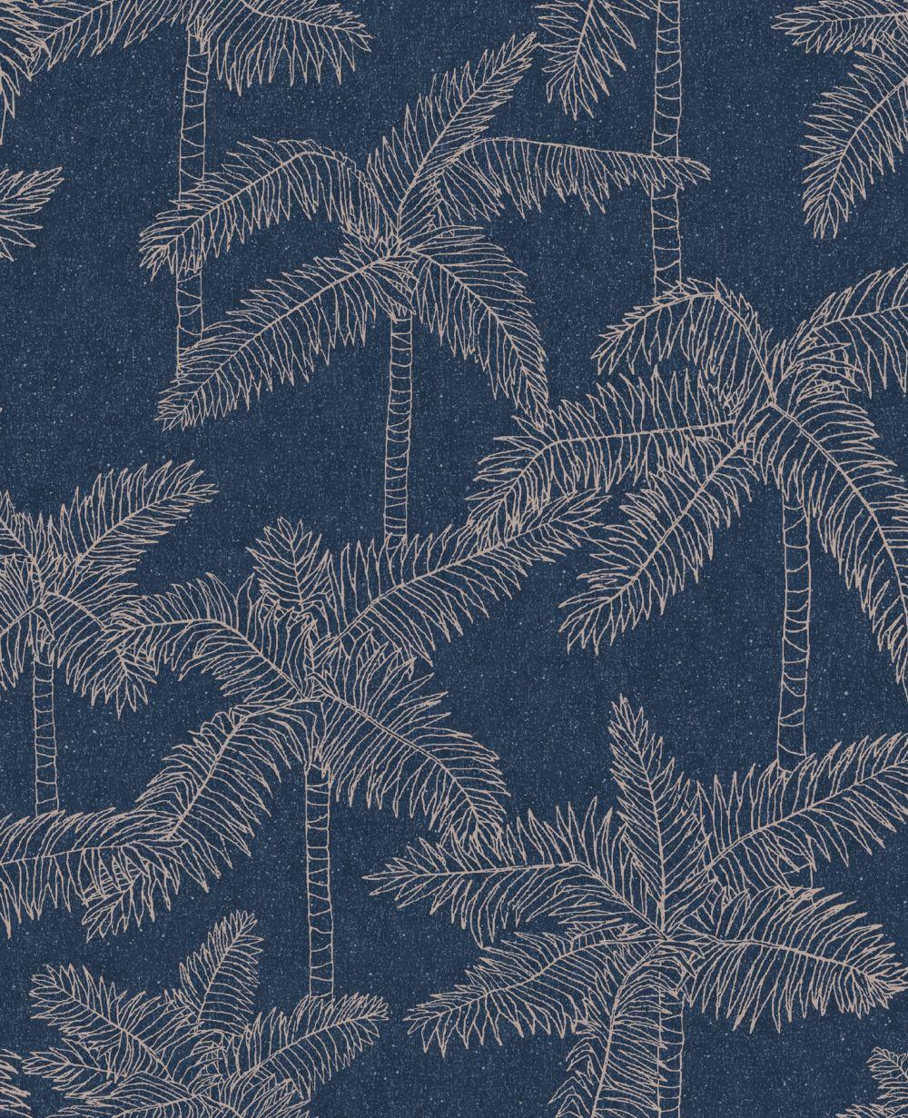 Eijffinger Palm Tree Navy Wallpaper - Product code: 384514