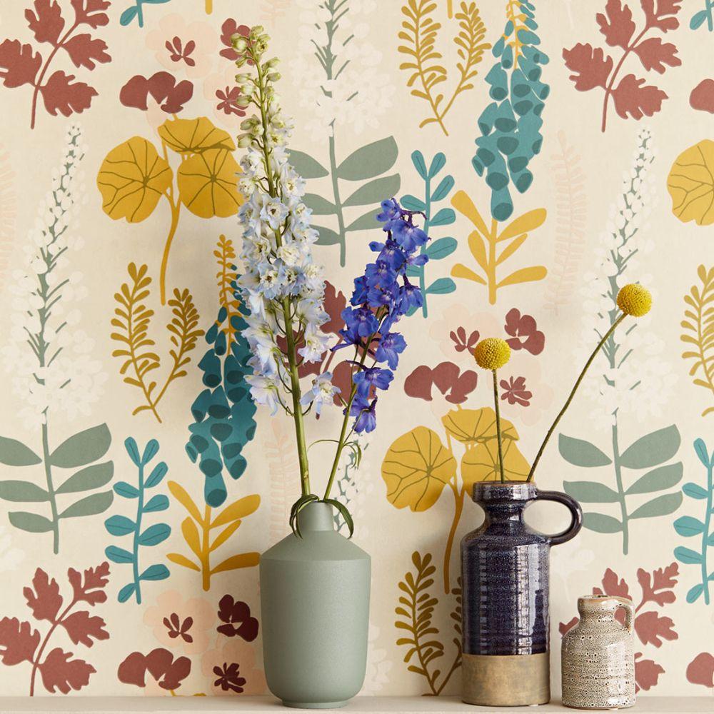 Foxglove Trail Wallpaper - Multi - by Eijffinger