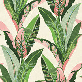 Eijffinger Jungle Palm Mural Green & Pink - Product code: 384601