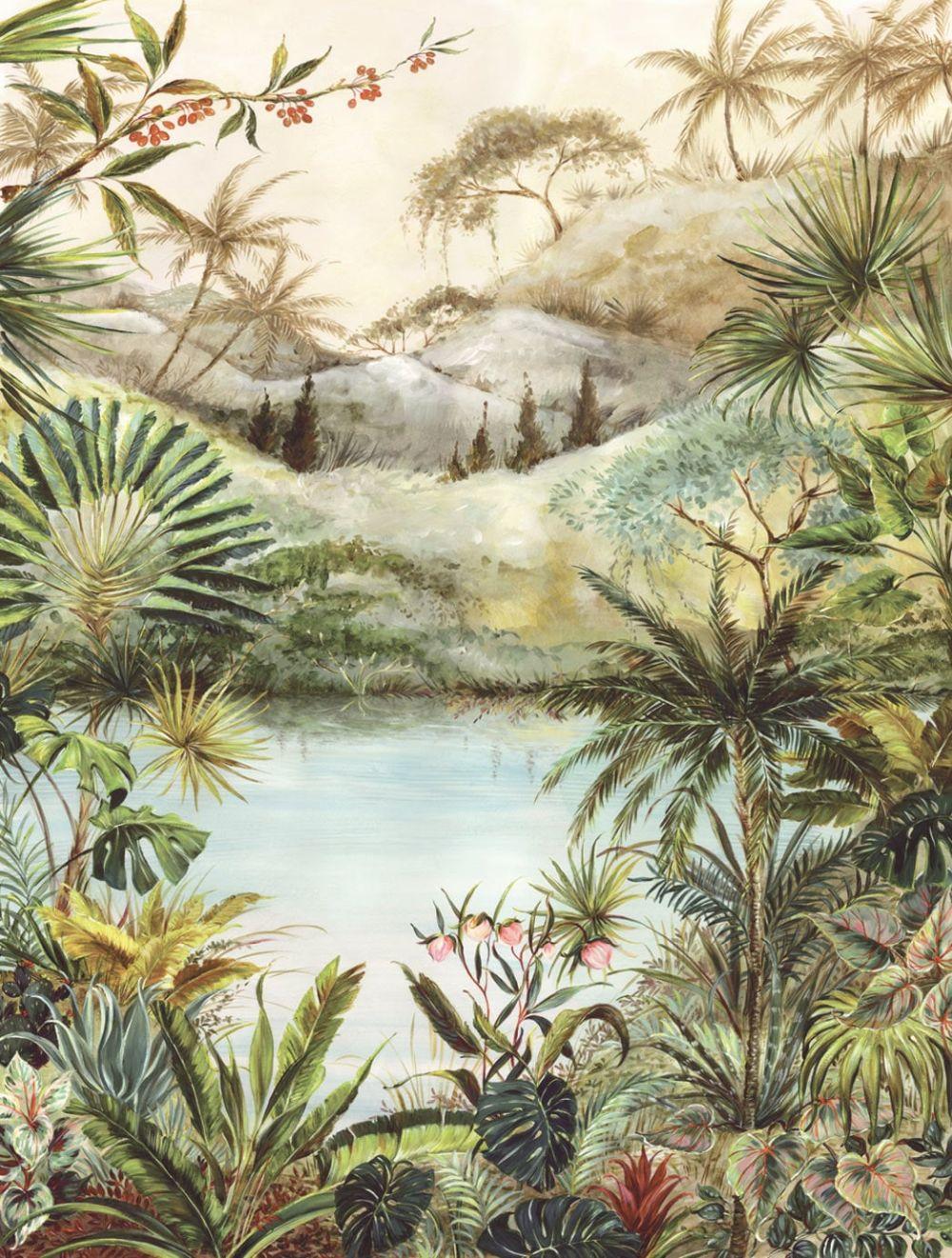 Tropical Scene Mural - Multi - by Eijffinger