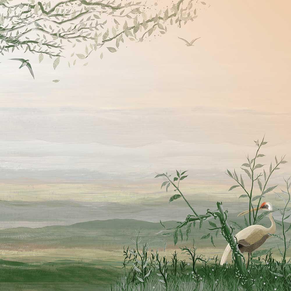 Yugure Mural - Aloe - by Coordonne