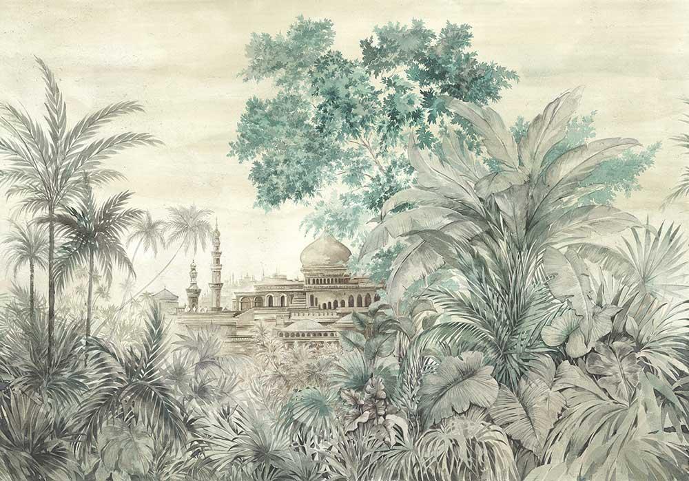 Taj Mahal Mural - Maca - by Coordonne