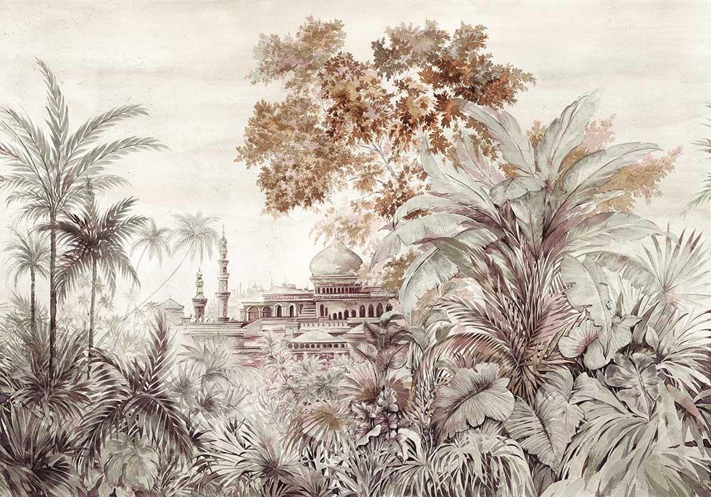 Coordonne Taj Mahal Rose Mural - Product code: 7900122