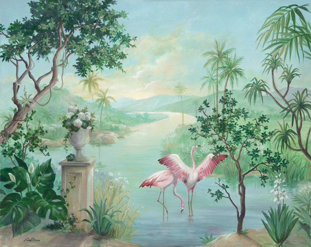 Coordonne Paisaje con Flamencos Exotismo Mural - Product code: 8000014