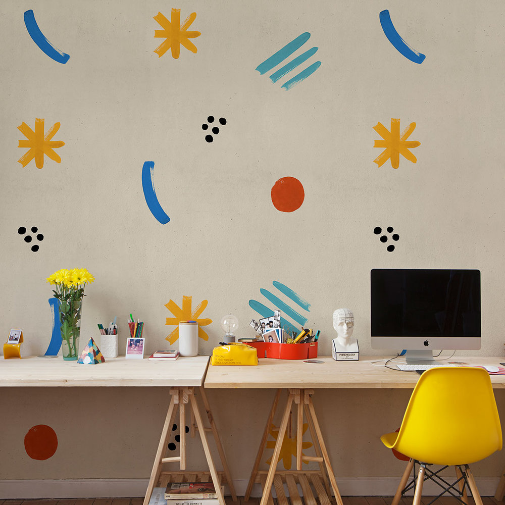 Coordonne Cosmic Childhood Universo Geometrico (Geometric Universe) Mural - Product code: 8000020