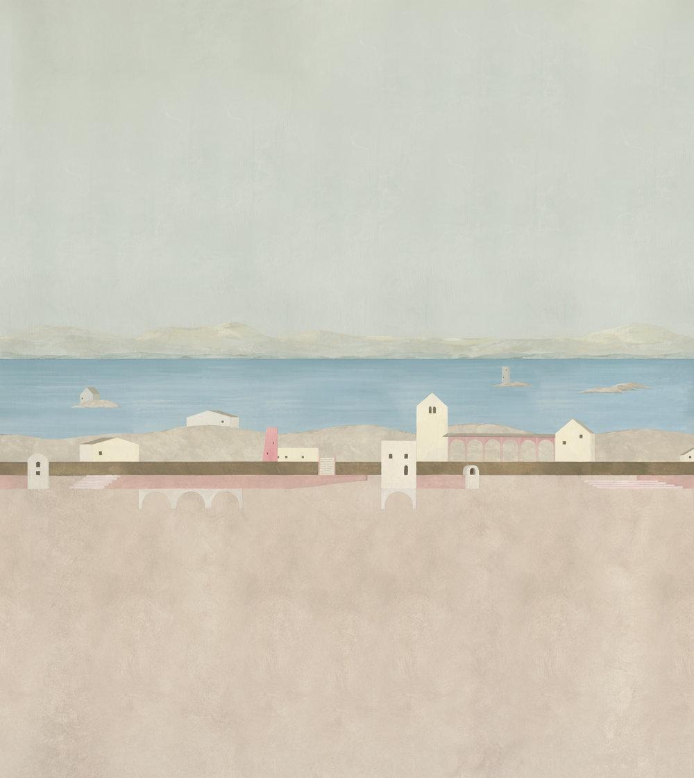 Coordonne Tierra Plana Arena (Sand) Mural - Product code: 8000030