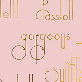 Coordonne Beautiful Words Flamingo Mural