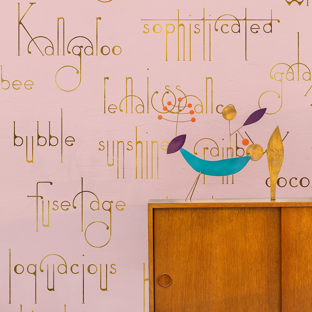 Coordonne Beautiful Words Flamingo Mural - Product code: 8000039