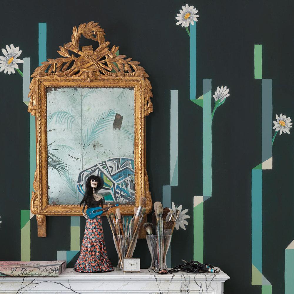 Coordonne Flor de Cactus Noche (night) Mural - Product code: 8000055