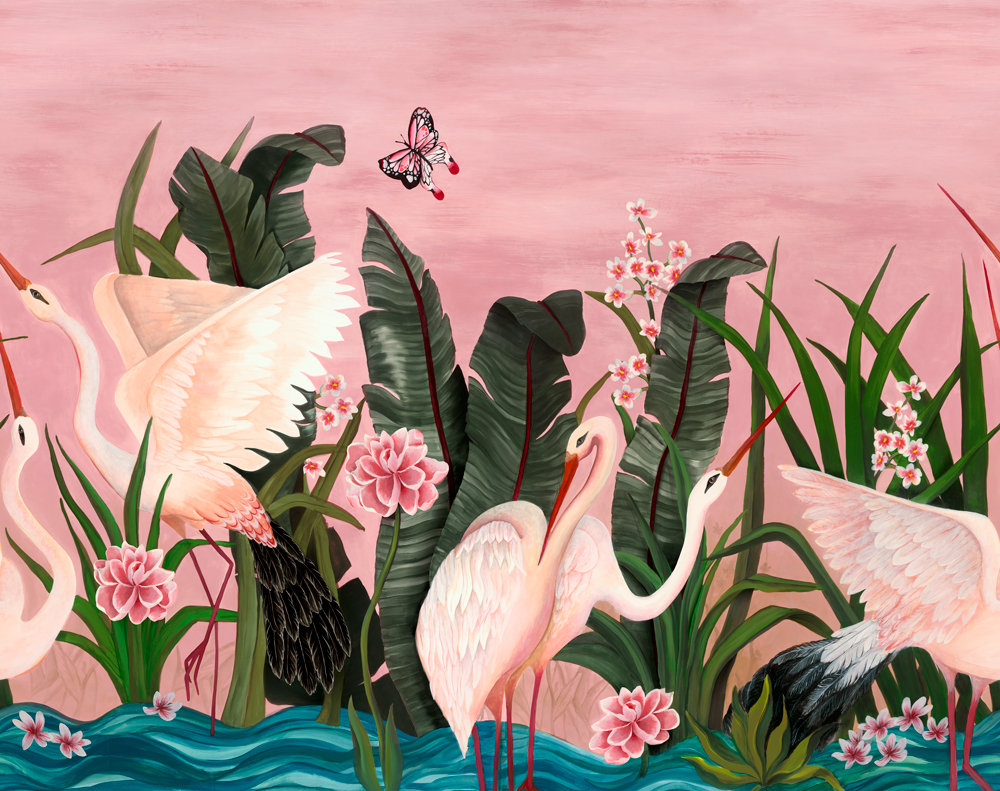 Wetlands Mural - Sunrise Flight - by Coordonne