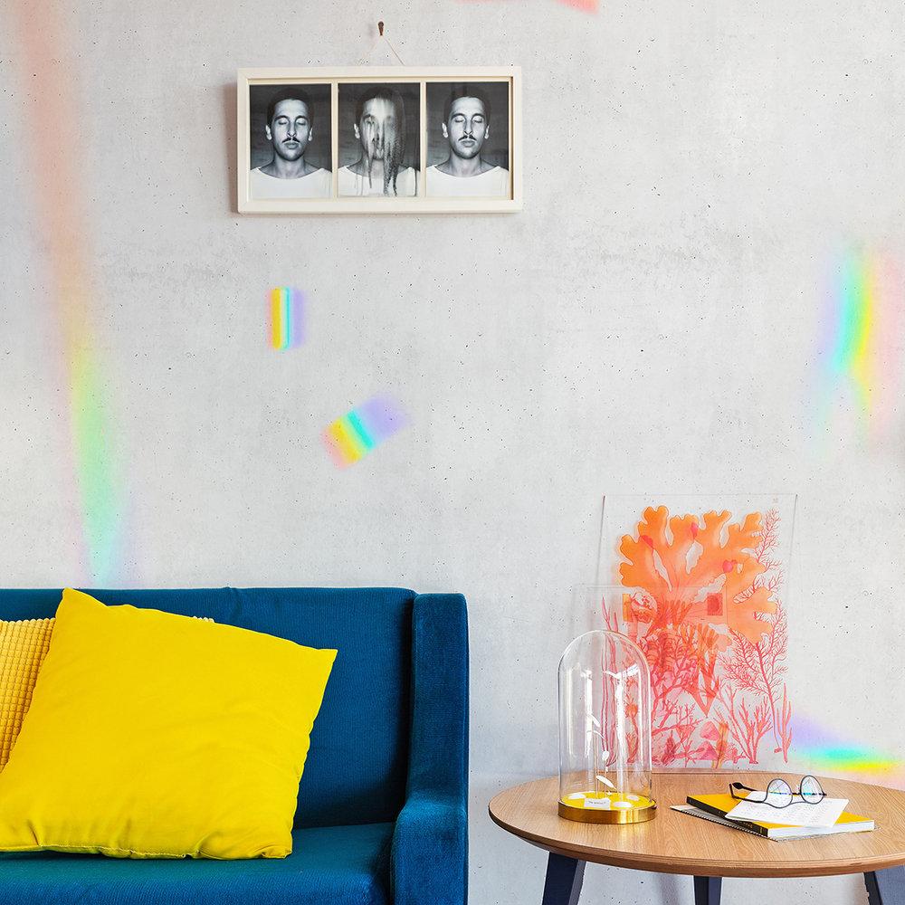 Iridato Mural - Concrete - by Coordonne