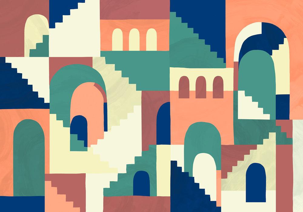 Coordonne Architopie Vivid Mural - Product code: 8000073