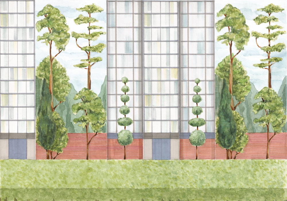 Coordonne Urban Garden Colour Mural - Product code: 8000076