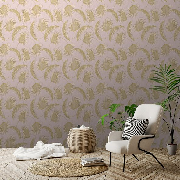 SK Filson Oasis Leaves Pink Wallpaper - Product code: SK20018