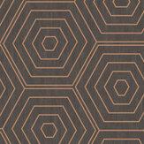 SK Filson Aztec Hexagons Copper Wallpaper