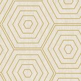 SK Filson Aztec Hexagons Stone Wallpaper - Product code: SK20022