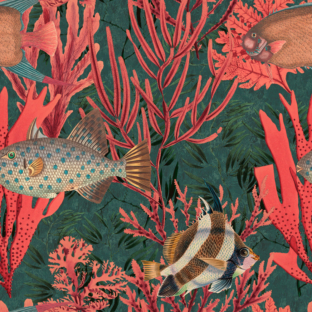Mind the Gap The Undersea set of 3 panels Red Mural - Product code: WP20303