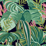 Mind the Gap Tropical Foliage set of 3 panels Anthracite  Mural - Product code: WP20366