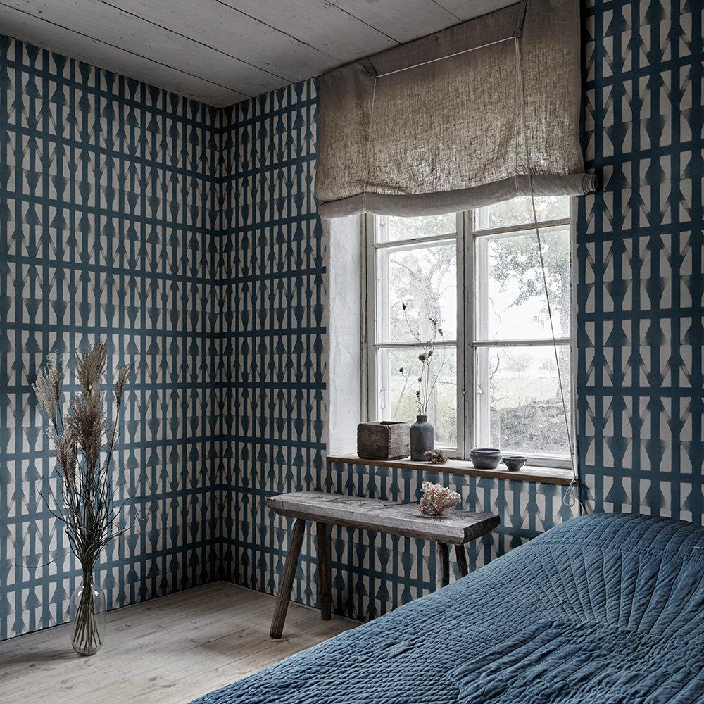 Shibori Wallpaper - Navy - by Sandberg