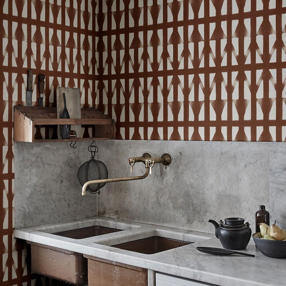 Shibori Wallpaper - Rust - by Sandberg