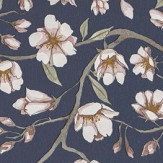 Sandberg Sakura Navy Wallpaper - Product code: 235-86