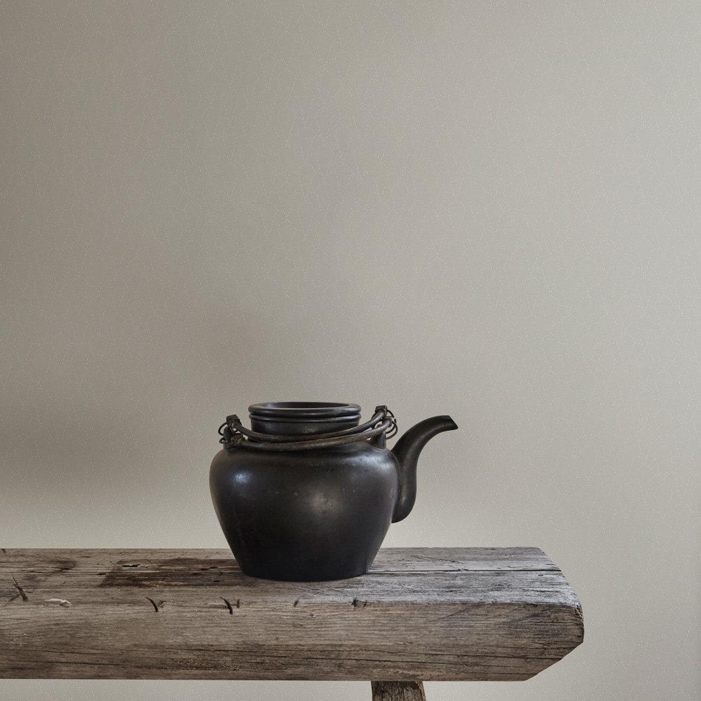 Sashiko Wallpaper - Grey - by Sandberg