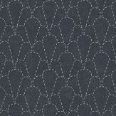 Sandberg Sashiko Navy Wallpaper - Product code: 237-96