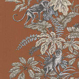 iliv Monkeying Around Henna Fabric - Product code: CRAU/MONKEHEN