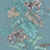 iliv Monkeying Around Lagoon Fabric - Product code: CRAU/MONKELAG