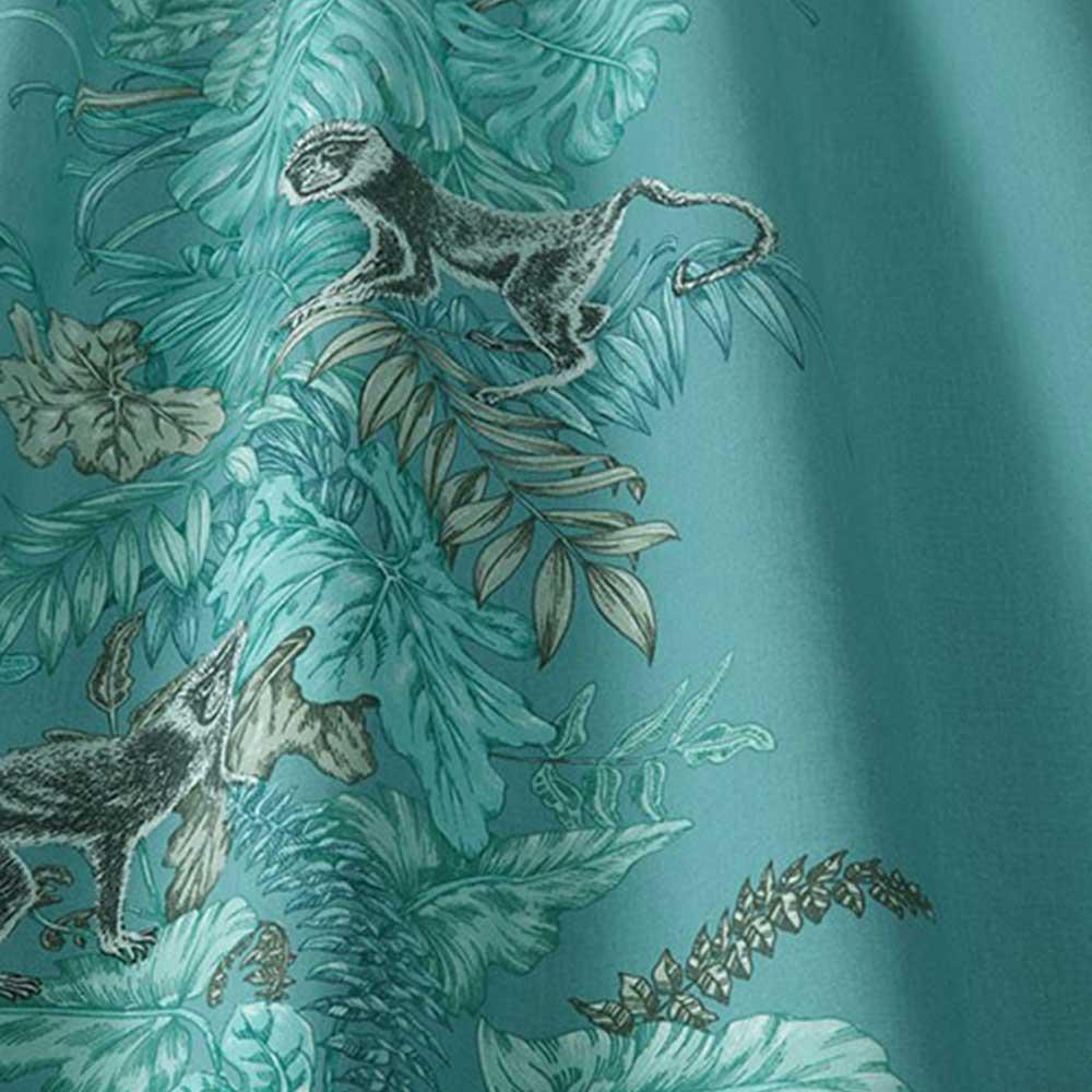 iliv Monkeying Around Lagoon Fabric - Product code: CRAU/MONKELAG