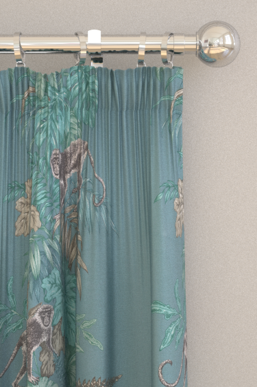 iliv Monkeying Around Lagoon Curtains - Product code: CRAU/MONKELAG