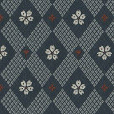 Sandberg Kimono Navy Wallpaper - Product code: 238-96