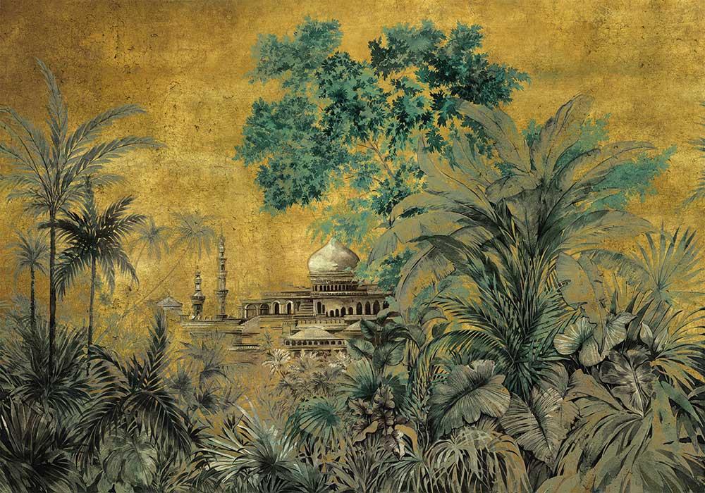 Taj Mahal Mural - Chai - by Coordonne