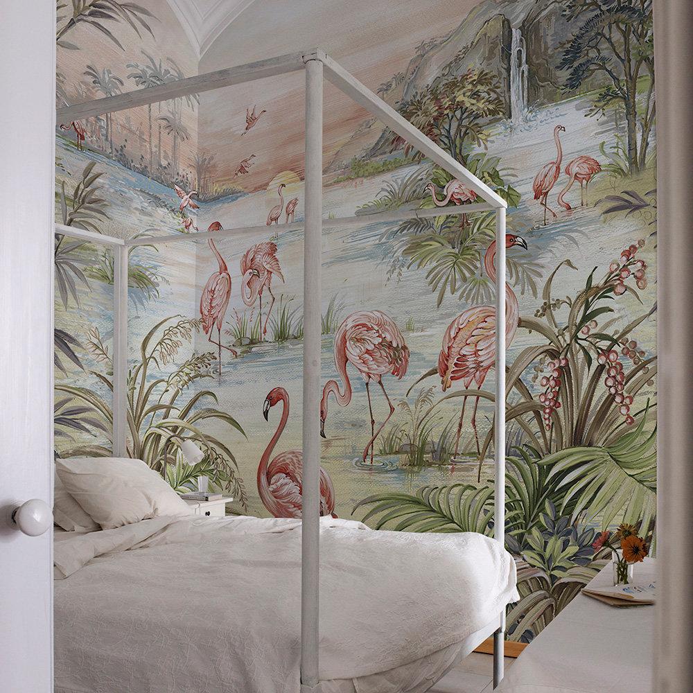 Roseus Mural - Maca - by Coordonne