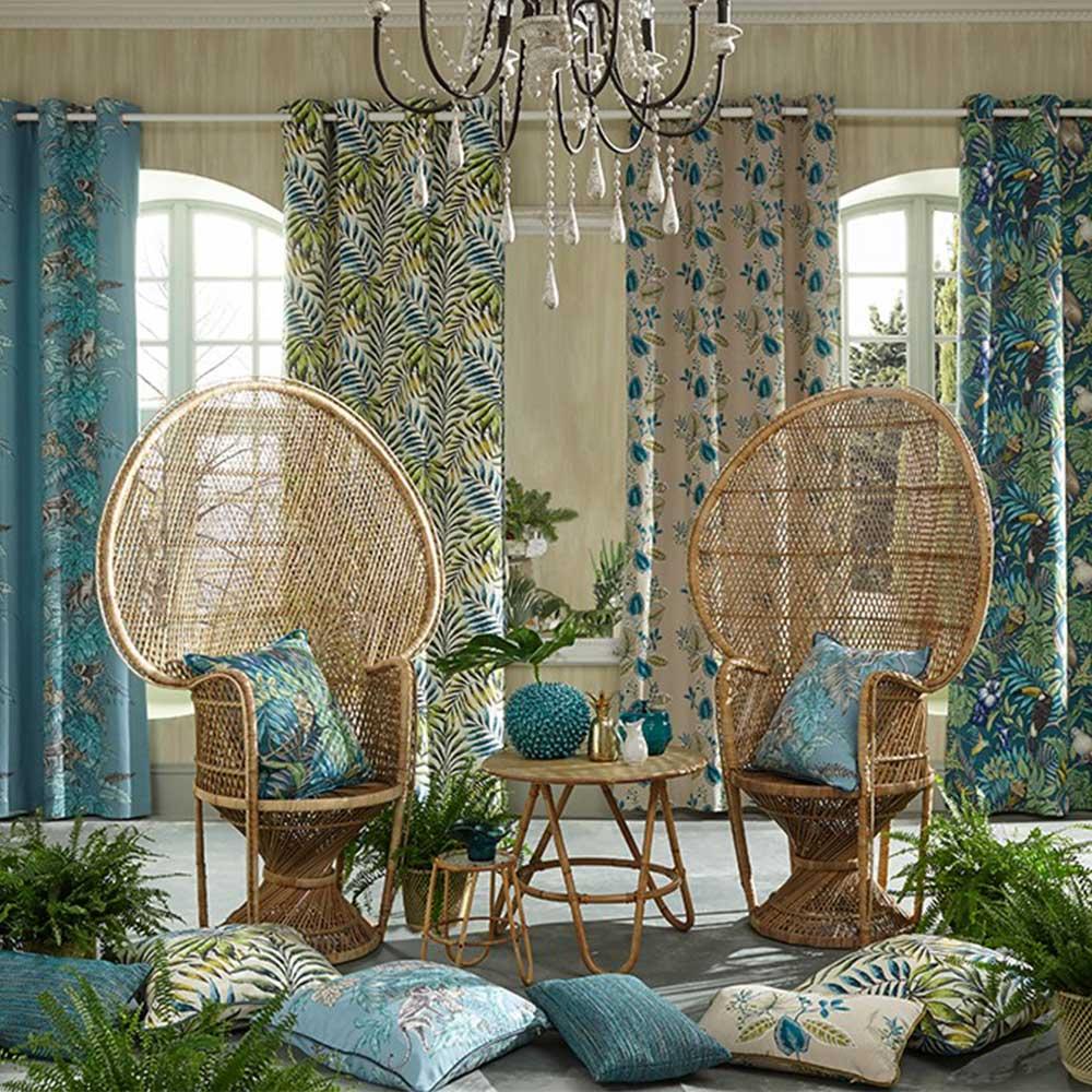 Monserrat Fabric - Lagoon - by iliv