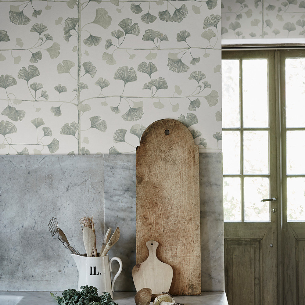 Sandberg Ginkgo Green Wallpaper - Product code: 803-18
