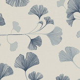 Sandberg Ginkgo Navy Wallpaper - Product code: 803-56