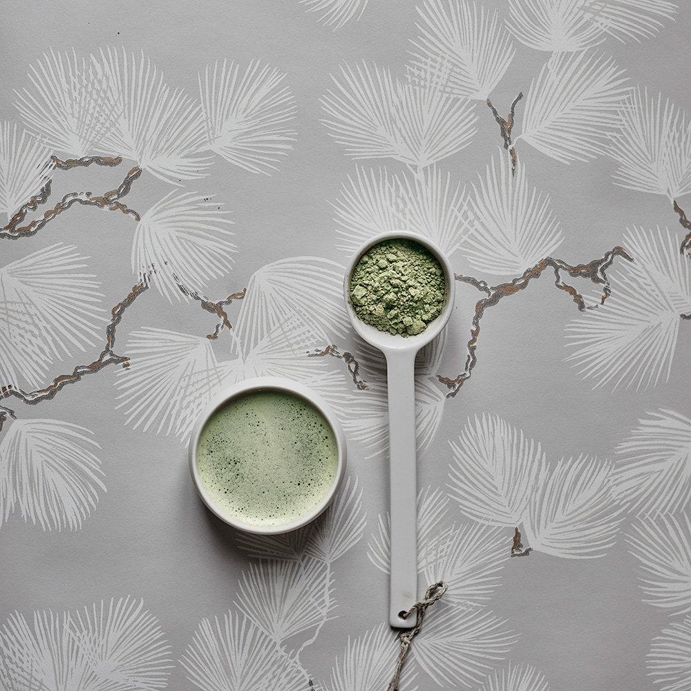 Pine Wallpaper - Grey - by Sandberg