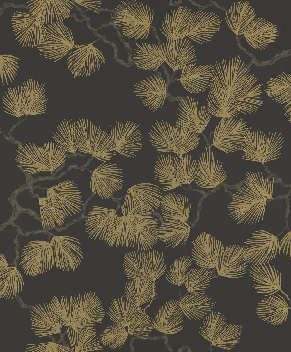 Sandberg Pine Gold / Black Wallpaper - Product code: 804-99
