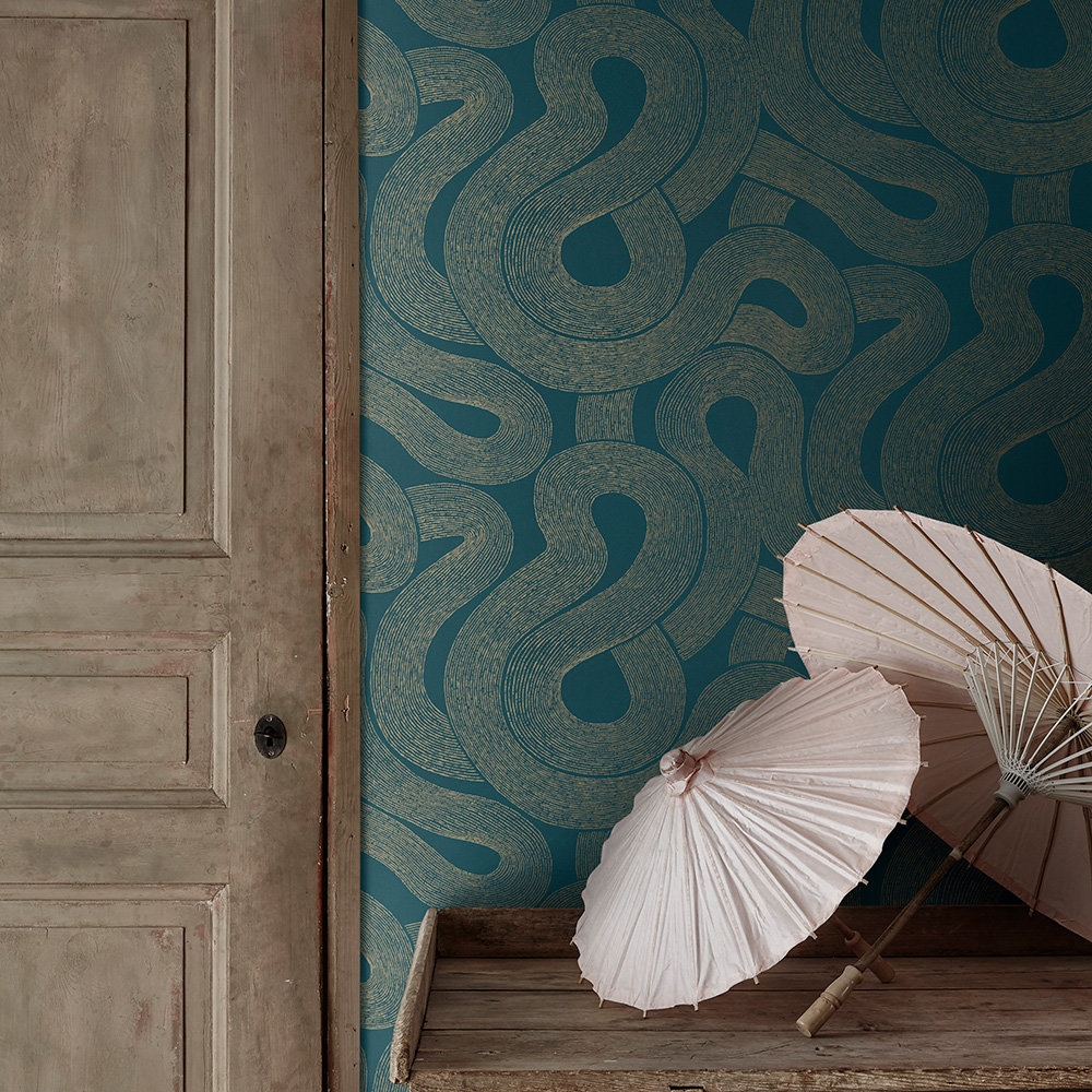 Zen Wallpaper - Teal - by Sandberg