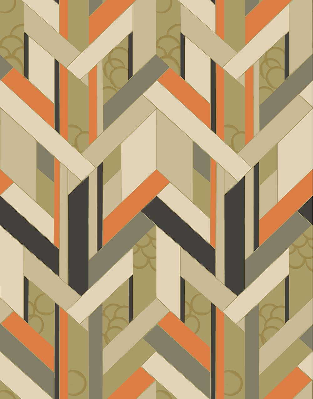 Petronella Hall Fitz Olive Wallpaper - Product code: 11861