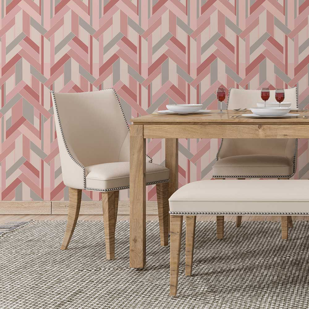 Petronella Hall Fitz Pink Wallpaper - Product code: 11863