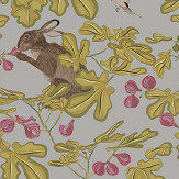 Petronella Hall Fig Grey Wallpaper