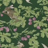 Petronella Hall Fig Green Wallpaper