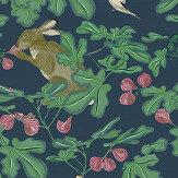 Petronella Hall Fig Blue Wallpaper