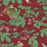 Petronella Hall Fig Red Wallpaper - Product code: 11867