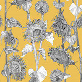 Petronella Hall Sunflowers Yellow Wallpaper