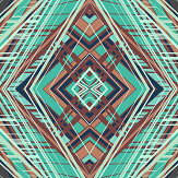 Petronella Hall Techno Turquoise Wallpaper - Product code: 11873