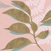 Osborne & Little Feuille D'Or Blush / Gold Wallpaper - Product code: W7331-01