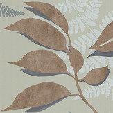 Osborne & Little Feuille D'Or Sage / Gold Wallpaper - Product code: W7331-03